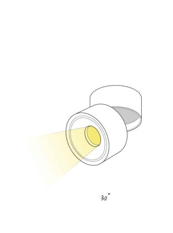 LED DOWNLIGHT OPBOUW 7W DIM TO WARM WIT-6133