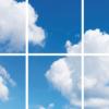 FOTOPRINT afbeelding wolk verdeeld over 6 panelen 595 x 595 mm-0