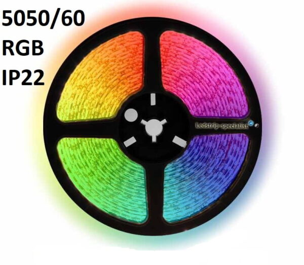 IP22-24V 5 METER 5050/60 10MM RGB-0