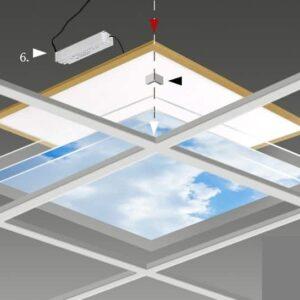 FOTOPRINT afbeelding wolk-bos verdeeld over 1 paneel 595 x 595 mm-5961