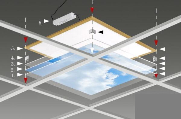 FOTOPRINT afbeelding wolk verdeeld over 4 panelen 595 x 595 mm-2104