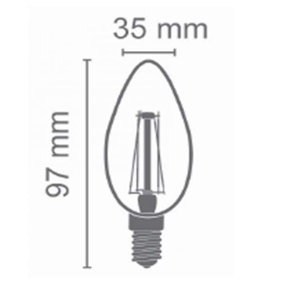 LED FILAMENT E14 KAARS MILKY 1.6W-3683