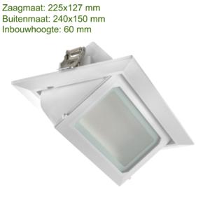 DOWNLIGHT KANTELBAAR 240x150 30W -0