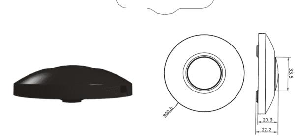 LED VLOERDIMMER ZWART 0-50W-5999