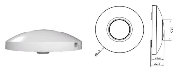 LED VLOERDIMMER WIT 0-50W-6000
