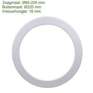 LED IN- EN OPBOUW DOWNLIGHT DIMBAAR + CCT Ø220MM-0