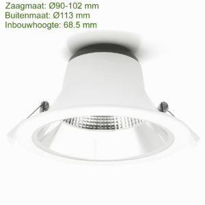 LED DOWNLIGHT REFLECTOR TRI COLOR 10W-0