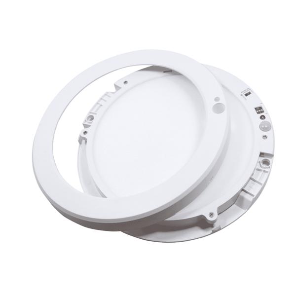 LED IN- EN OPBOUW DOWNLIGHT MET BEWEGINGS- EN LICHTSENSOR Ø220MM-5373