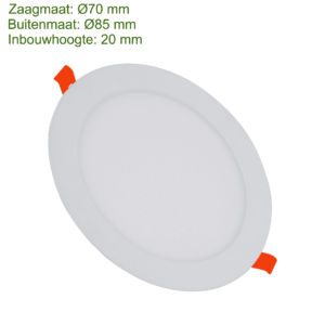LED DOWNLIGHT SLIM Ø70 3W -0