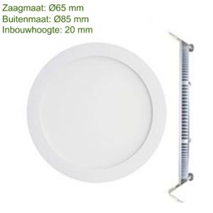 LED DOWNLIGHT SLIM Ø65 3W -0
