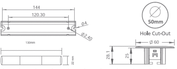 NOODVERLICHTING SPOT INBOUW LED 3W FOCUS LENS-6033