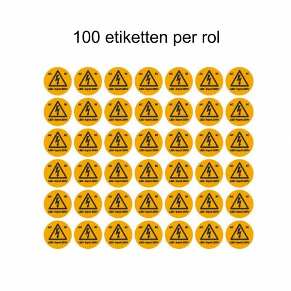 ETIKETTEN LED-INPUT 230V (100 stuks per rol)-4522