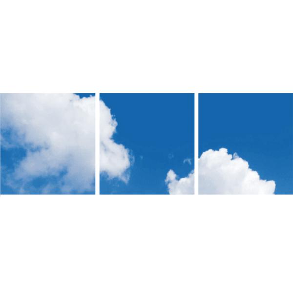 FOTOPRINT afbeelding wolk verdeeld over 3 panelen 595 x 595 mm-0