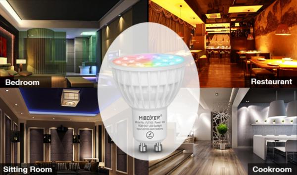 GU10 MR16 LED SPOT RGB+CCT 4W -4674