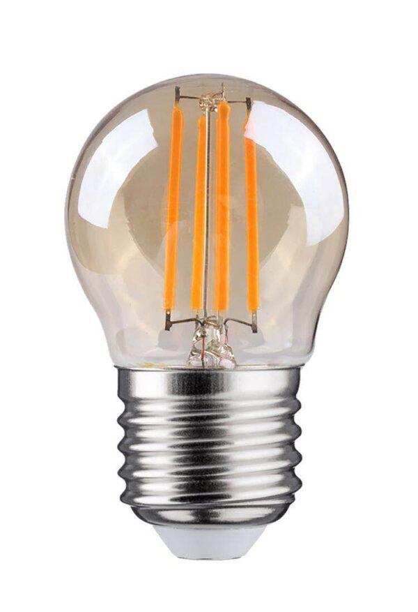LED FILAMENT E27 KOGEL DIMBAAR AMBER GLAS 4W-0