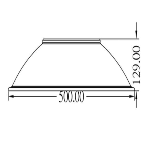 HUC ALUMINIUM REFLECTOR 90° + korte schroeven-3544