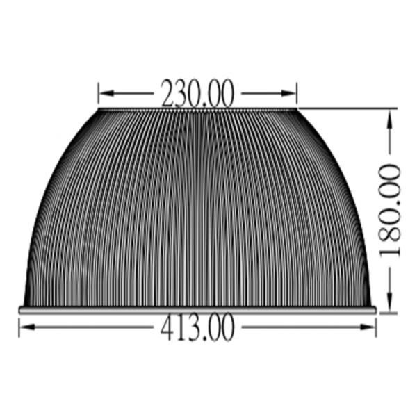 HUC PC REFLECTOR 60° + lange schroeven-3543