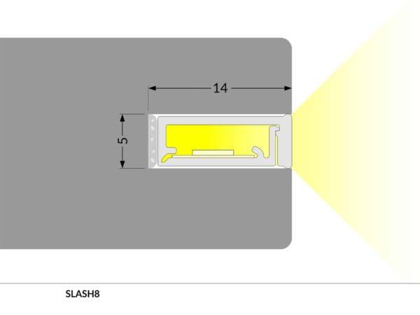 PROFIEL SLASH 8MM 2MT-5785