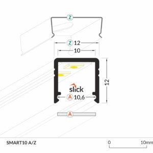 PROFIEL SMART 10MM 2MT-2950