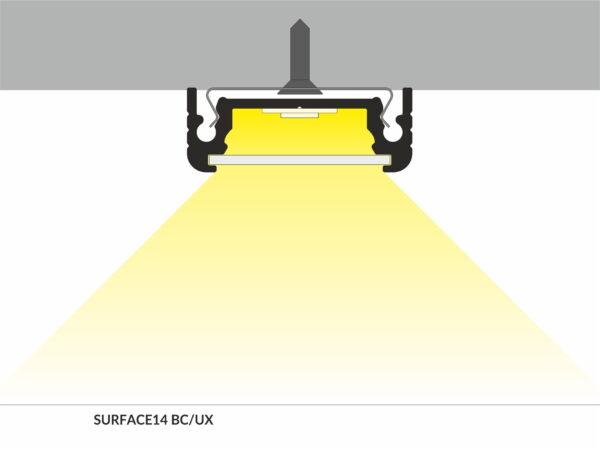 PROFIEL SURFACE 14MM 2MT-2991