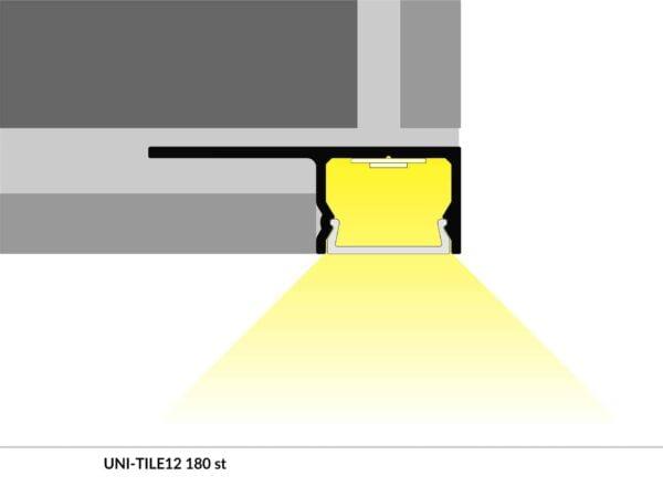 PROFIEL UNI-TILE 12MM 2M-5185