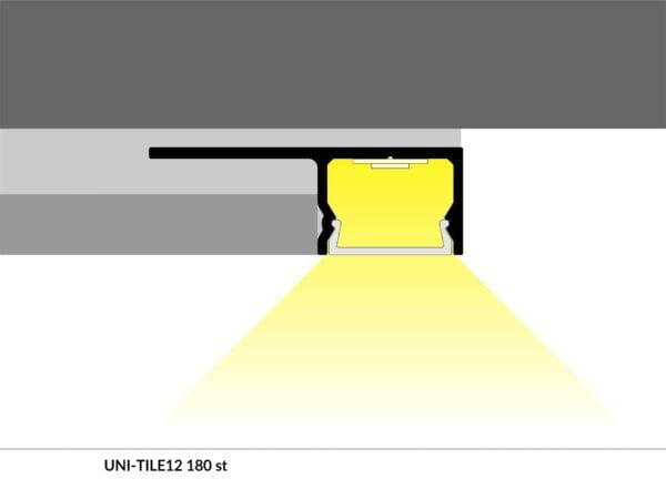 PROFIEL UNI-TILE 12MM 2M-5186