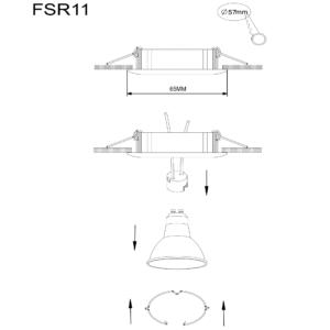 MR11 ARMATUUR ROND KANTELBAAR RVS-4334