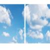 FOTOPRINT afbeelding wolk verdeeld over 2 panelen 595 x 595 mm-0