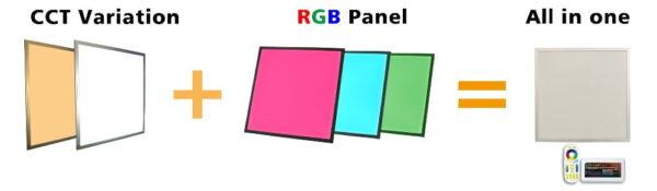 LED PANEEL RGB CW WW 60x60CM-2269