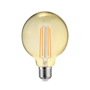 LED FILAMENT E27 GLOBE-L DIMBAAR AMBER GLAS 6.5W-0