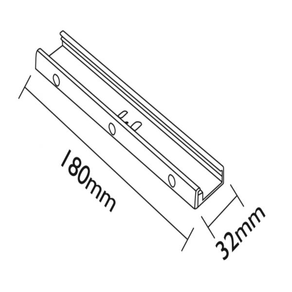 OPHANGSYSTEEM 18CM ZWART-4385