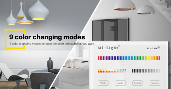 MI-LIGHT 4 ZONE RGB+CCT PANEL REMOTE (220Volt)-4727