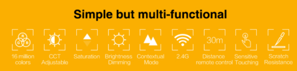 MI-LIGHT 4 ZONE RGB+CCT PANEL REMOTE (220Volt)-4723