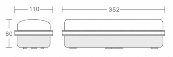 NOODVERLICHTING LED 3W SLAGVAST IP65 -6064