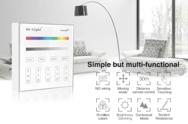 MI-LIGHT 4 ZONE RGB+W PANEL REMOTE-4690