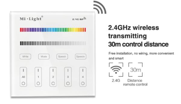 MI-LIGHT 4 ZONE RGB+W PANEL REMOTE-4692