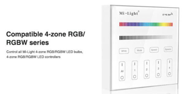 MI-LIGHT 4 ZONE RGB+W PANEL REMOTE-4693
