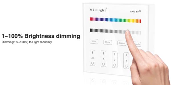 MI-LIGHT 4 ZONE RGB+W PANEL REMOTE-4696