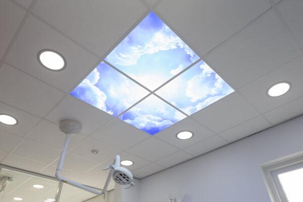 FOTOPRINT afbeelding wolk verdeeld over 6 panelen 595 x 595 mm-2056