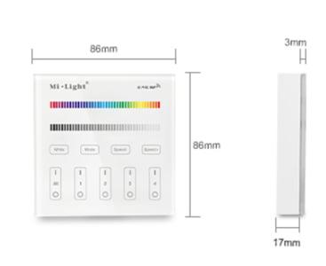 MI-LIGHT 4 ZONE RGB+CCT PANEL REMOTE (220Volt)-3691