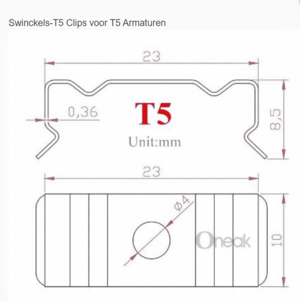 T5 Clips voor T5 Armaturen (set van 2 stuks)-5129
