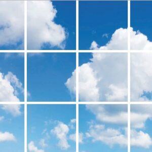 FOTOPRINT afbeelding wolk verdeeld over 12 panelen 595 x 595 mm-0