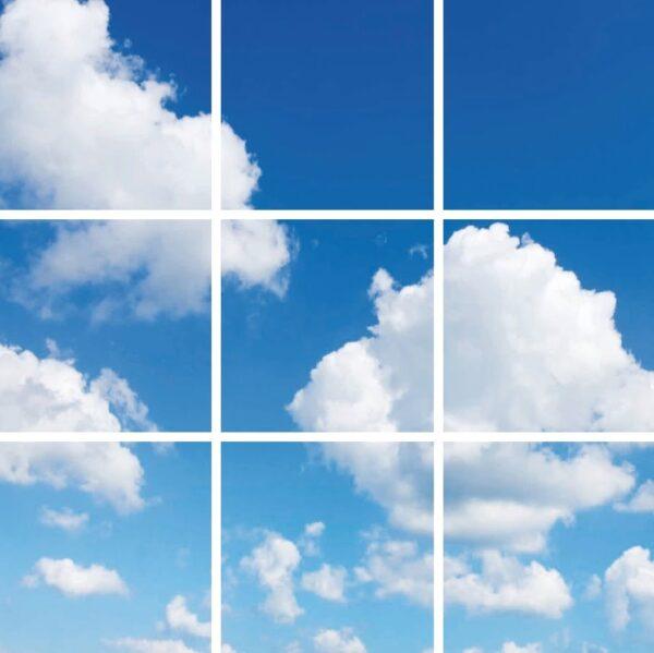 FOTOPRINT afbeelding wolk verdeeld over 9 panelen 595 x 595 mm-0
