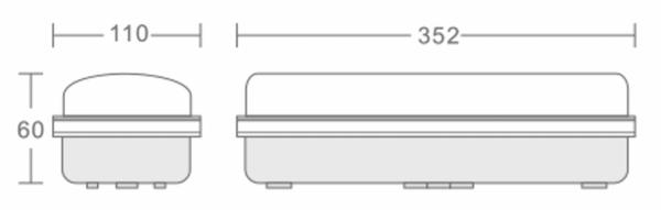 LED GALERIJ / PORTIEKVERLICHTING IP65 MET SENSOR-6007